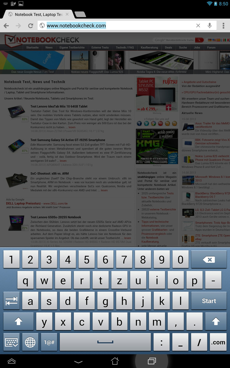 Review Asus Memo Pad FHD 10 Tablet - NotebookCheck net Reviews