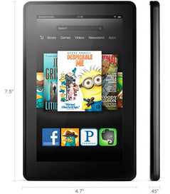 Kindle Fire tablet dimensions