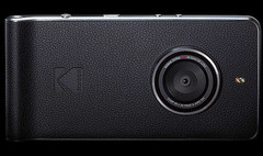 Photo-centric Kodak Ektra Android smartphone with faux leather look