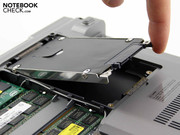 The hard disk can easily be removed