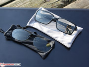 with a simple pair of polarizer 3D glasses,