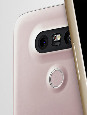 Fingerprint reader below the rear camera
