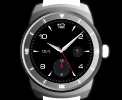 LG G Watch Round smartwatch with compass, distance meter, and digital step counter