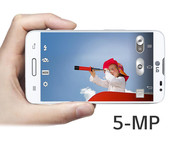 The main camera on the backside has a resolution of 5 megapixels.