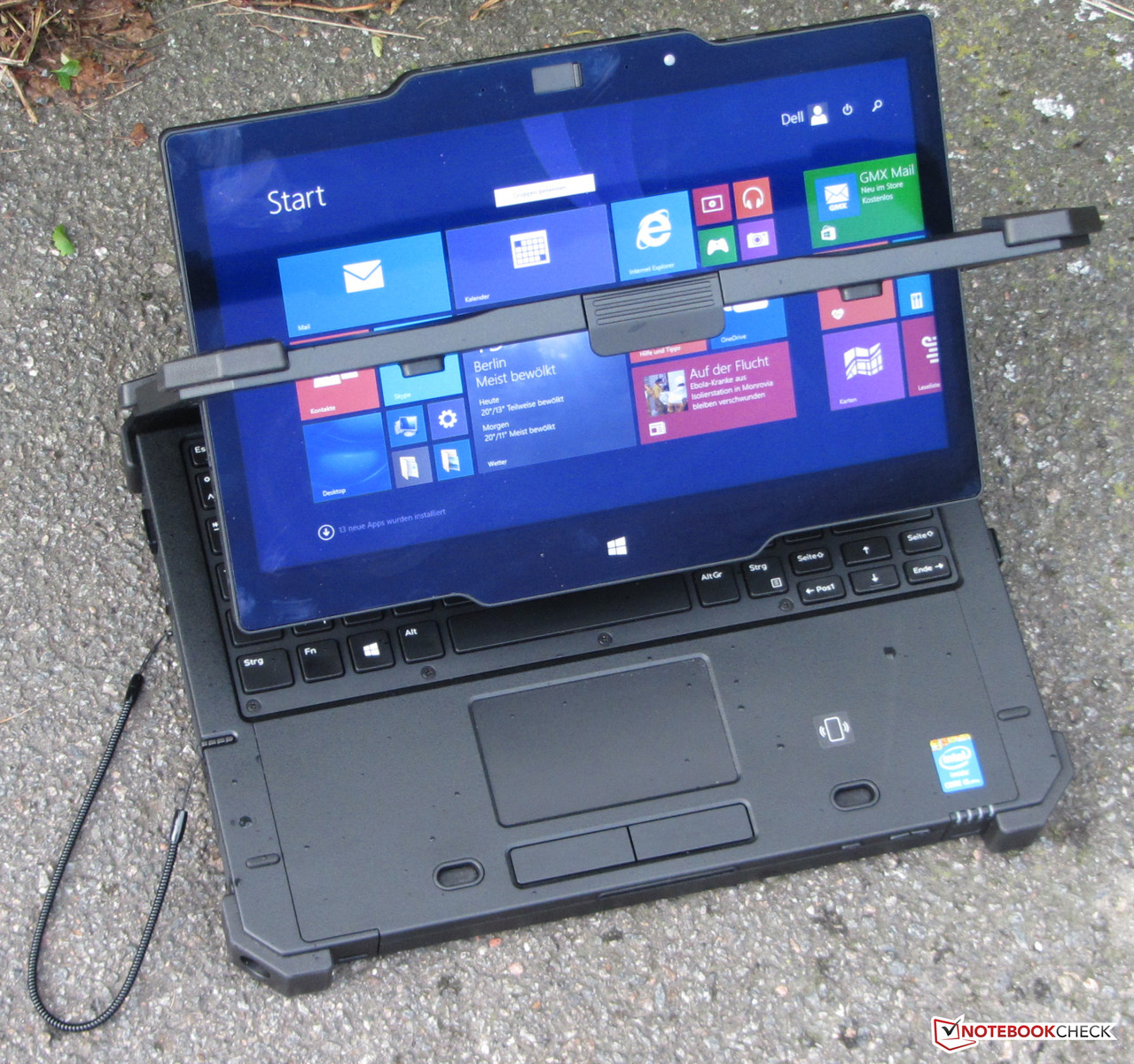 dell latitude 12 rugged extreme convertible review - notebookcheck