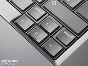 The concave shape of the keys provides for accurate typing.