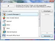 ...which can be defined with the Launch Manager.