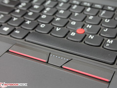 The TrackPoint is typical for ThinkPads.