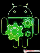 Little green Android man