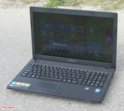 The Lenovo G510 outside.