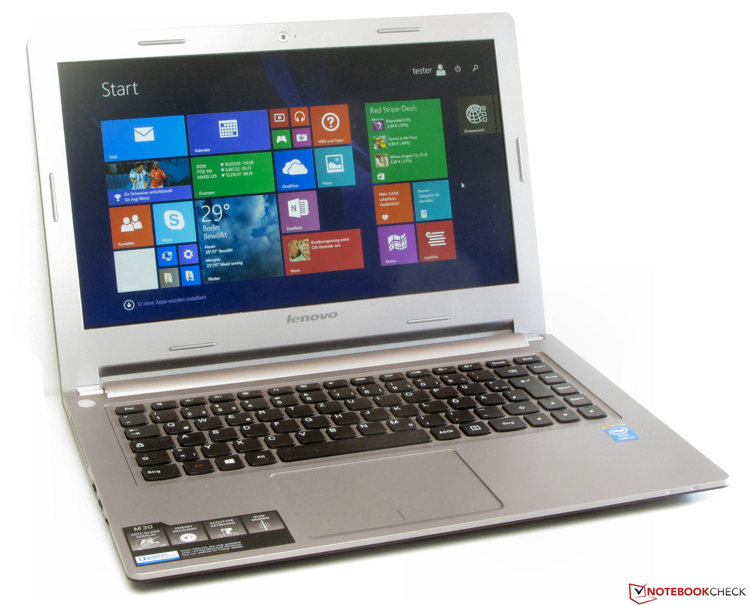 Lenovo reveals new business laptops with hot swap battery feature - Lenovo M30 70