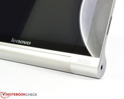 The stereo speakers are located at the front of the tablet, yielding more than decent audio quality.