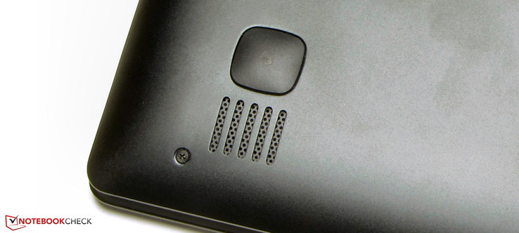 The speakers are situated on the laptop's underside
