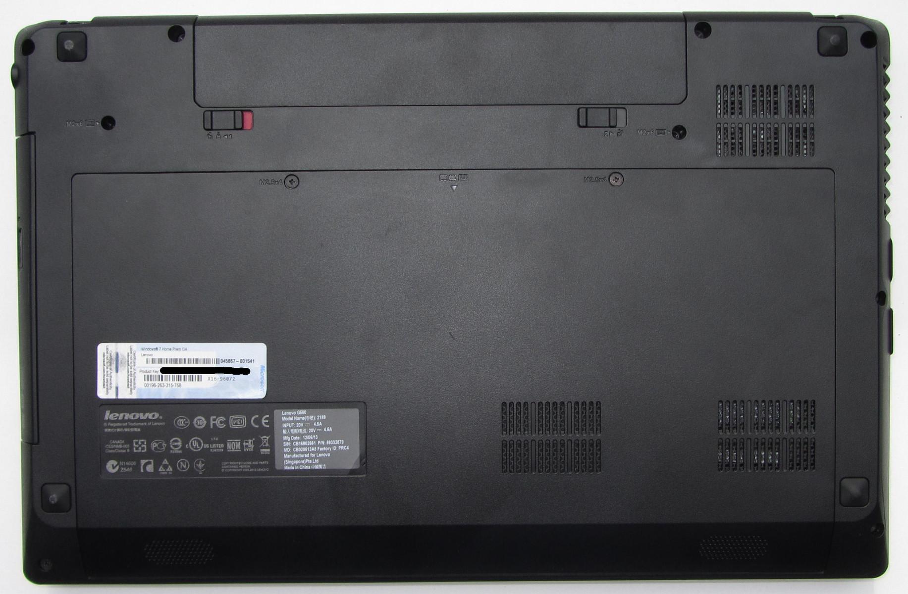 Ноутбук lenovo g580 инструкция