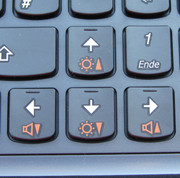 Good: the orange makes the function keys clearly visible.