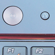 The power button (on the left) and the OneKey Rescue button (right).