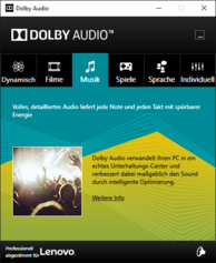 Dolby Audio Software - Music preset