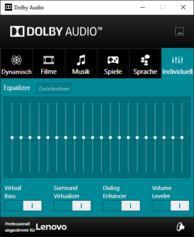 Dolby Audio Software - Equalizer