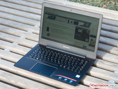 IdeaPad in direct sunlight