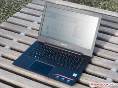 IdeaPad in direct sunlight with reflections