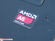 The processor is named AMD A6-5200 and comes from the Kabini platform (Jaguar architecture).