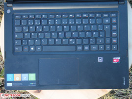 Keyboard: spongy feedback and weak keyboard base.