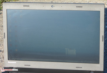 The Thinkpad outdoors (exposed to direct sunlight)