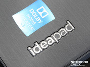 The IdeaPad-branding on the wrist rest area