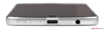 Lower edge: USB Type-C port, 3.5-mm headset jack