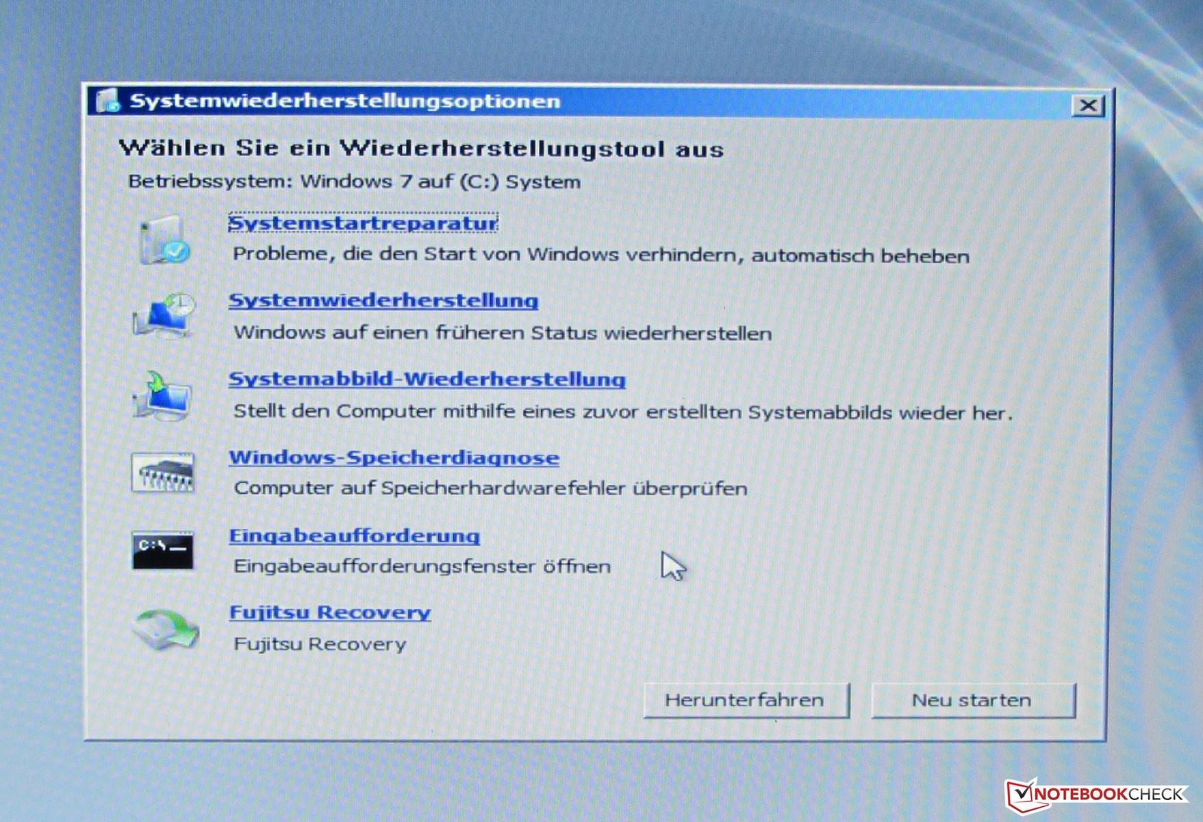 RE: Jak zrobić reinstall systemu Windows 7 na laptopie fujitsu z ukrytej partycji?