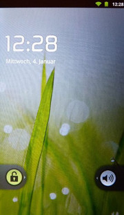 The lock-screen reminds of a somewhat older Android version,