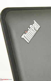 As usual, the ThinkPad logo will light red when in use or in Sleep mode