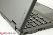 The reinforced plastic chassis is noticeably stronger than other inexpensive Chromebooks in the market
