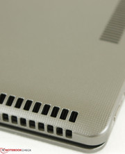 Large ventilation grilles around the edges and corners; this is uncommon amongst tablets