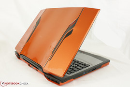 The deep orange, black trims, sharp edges and curvy lid feel like a supercar