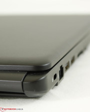 Matte dark gray surface and a very plain chassis design
