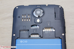 The seven sensors above the MicroSD slot are for the back touch panel feature