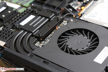 The heat pipes for the GPU are slightly thicker than those for the CPU