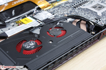 41-blade fan accompanied by a smaller 37-blade fan next to the GPU
