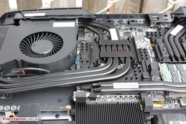 Most of the heat pipes are just for cooling the GPU alone