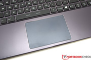 The touchpad has integrated buttons and is large and easy to use.