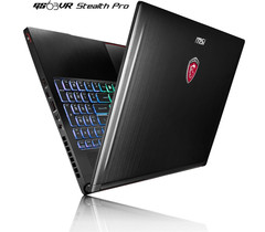 MSI GS63VR Stealth Pro ultralight gaming notebook with GeForce GTX 1060 graphics