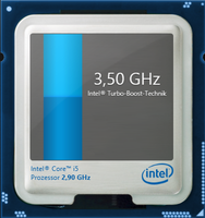 Maximum Turbo Boost of 3.5 GHz for one core