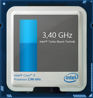 Maximum Turbo Boost of 3.4 GHz for two cores