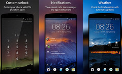 Microsoft Next Lock Screen 3.2 lock screen app for Android
