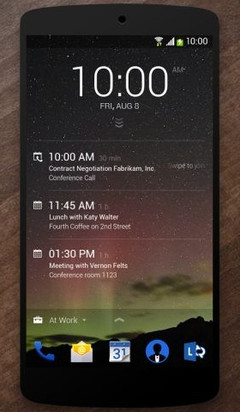 Microsoft Next Lock Screen app for Android devices