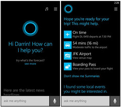 Microsoft Windows Phone 8.1 Cortana digital assistant in action