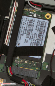 Lenovo selected an mSATA SSD for their tablet.