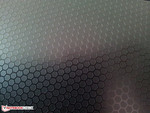 Anodized aluminum in precision-embossed honeycomb pattern