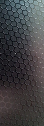 Honeycomb pattern on the display lid.